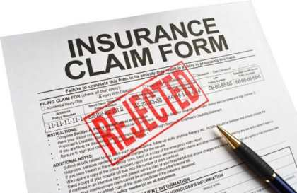 car insurance claim rejected