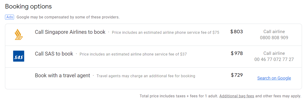 Google Flights NZ Review