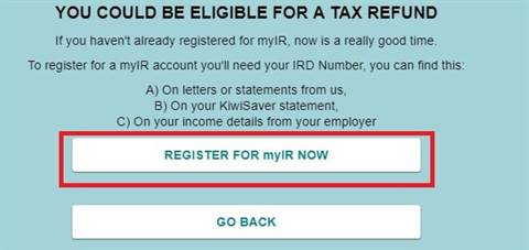 tax refund screener ird